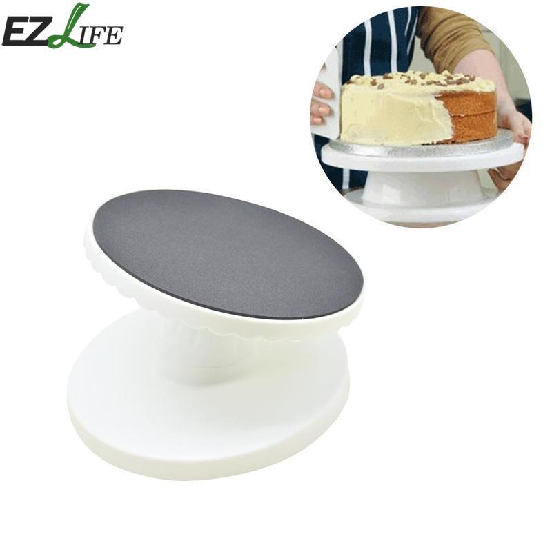 9-inch Reclining Cake Turntable Plastic Rotating Anti-skid Cake Decorating Turntable Round Cake Stand DIY Kitchen Baking Tools