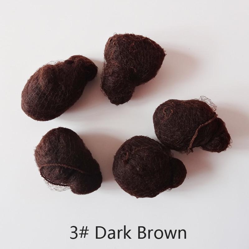 50pcs/20pcs Sample Order Five Colors Nylon Hairnets Black Brown Coffee Color Invisible Soft Elastic Lines Hair Net 2