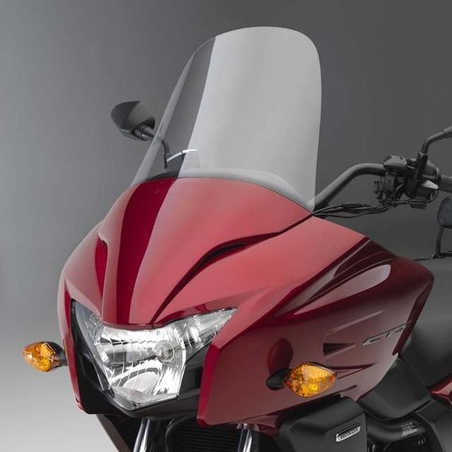 Motocicleta Cruiser modificado 50CM 4MM parabrisas delantero Deflector de vidrio para Honda CTX700 2014-2017 2015 2016