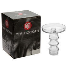 Yimi Hookah Premium Borosilicate Glass Universal Fit Phunnel Bowl Height 10.5cm Outter Dia 7.7cm Inner 6.8cm