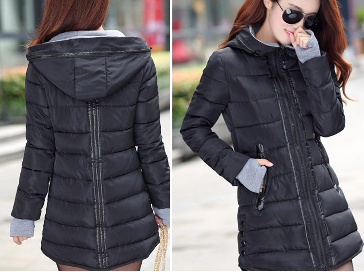 HTB1SlUrXwoSMeJjSspaq6zMOFXar 2019 women winter hooded warm coat slim plus size candy color cotton padded basic jacket female medium-long  jaqueta feminina