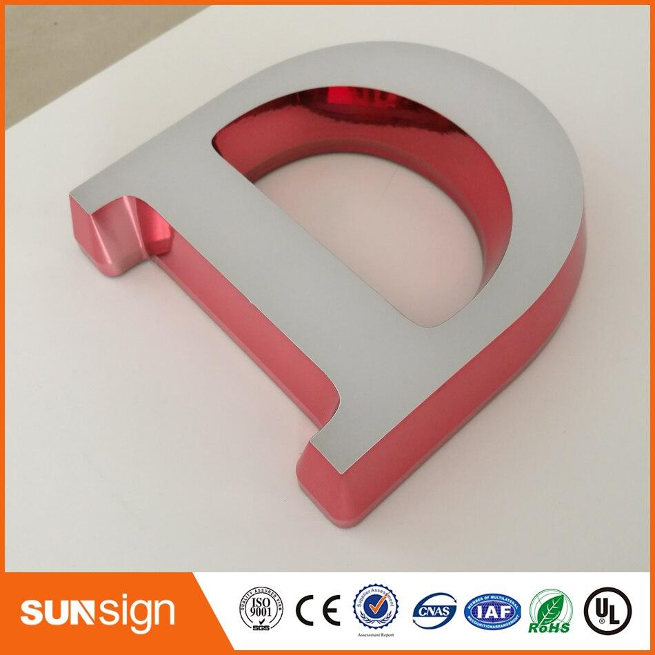 Акриловые лица сетчатый 3D буквы
