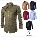 M-2XL!!!!Free Shipping in The Spring Of The New Men's Fashion Leisure Personality With More Men Long Sleeve Shirt Pocket