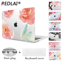 Redlai Gül & Çiçek Laptop Kol Durumda Apple Macbook Air Için 13.3 inç Pro 15.4 inç Retina 12 inç Yeni Macbook Için 2016
