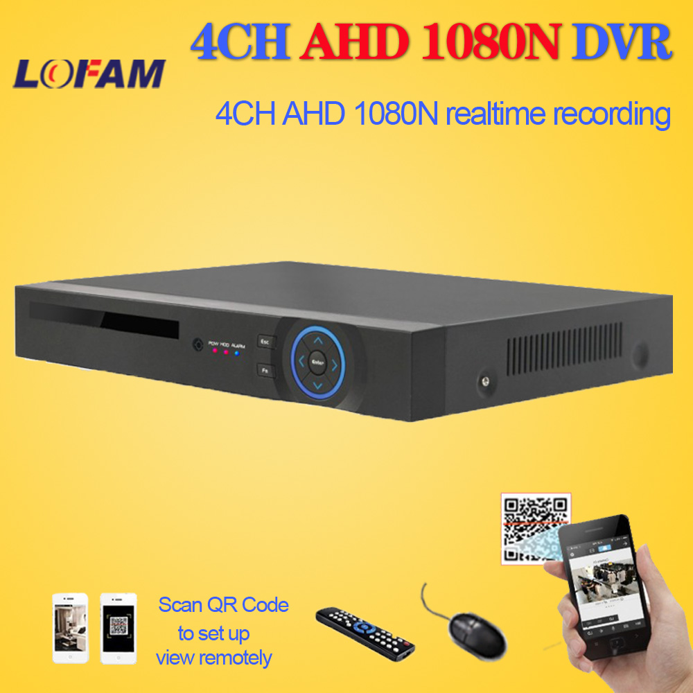 LOFAM 4CH AHD DVR 1080N Surveillance Video Recorder H 264 4 Channel Digital Video Recorder For
