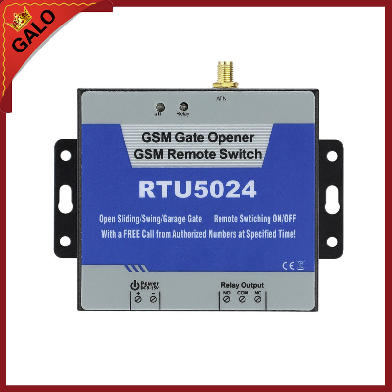 RTU5024 GSM Gate Opener Relay Switch Remote Access Control By Free Call iphone and android app support rtu5024 gsm gate opener relay switch