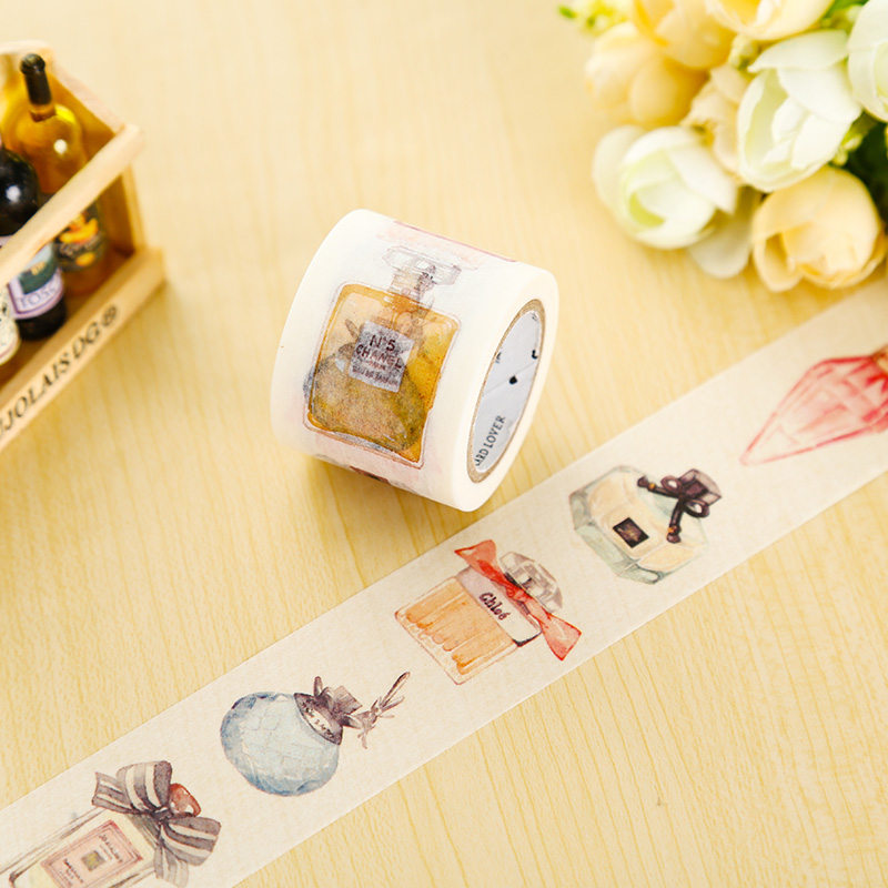 1 x Perfume washi tape DIY decorative scrapbook planner masking tape office adhesive tape stationery 3cm 7m raining butterfly washi tape diy decorative scrapbook planner masking tape office adhesive tape stationery