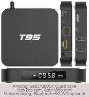 10 stks T95-2gb/8 gb 2 jaar garantie KODI S905/s905x 64 bits Quadcore wifi google android TV dozen IPTV
