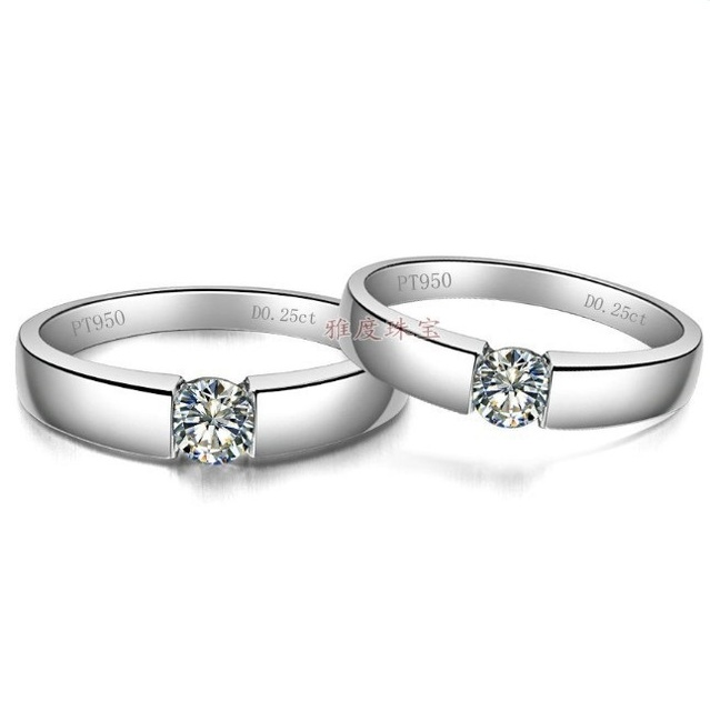21135e4d39ec Xmas 925 su y su promesa eterna simular anillo de diamante romántico  amantes promesa par anillo