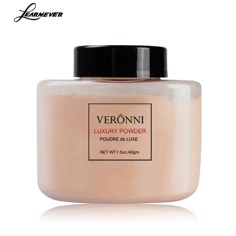 LEARNEVER 1pcs Transparent Powder Oil Control Powder Matte Makeup Breathable Fixed Face Powder Contour Long Lasting Palette