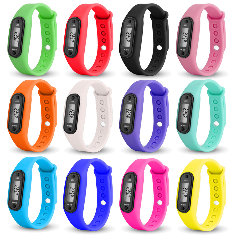 Fitness & Bodybuilding Silica Gel Bracelets Run Step Watch Bracelets Pedometer Calorie Counter Digital Lcd Walking Distance Wrap Cuff Drop Ship