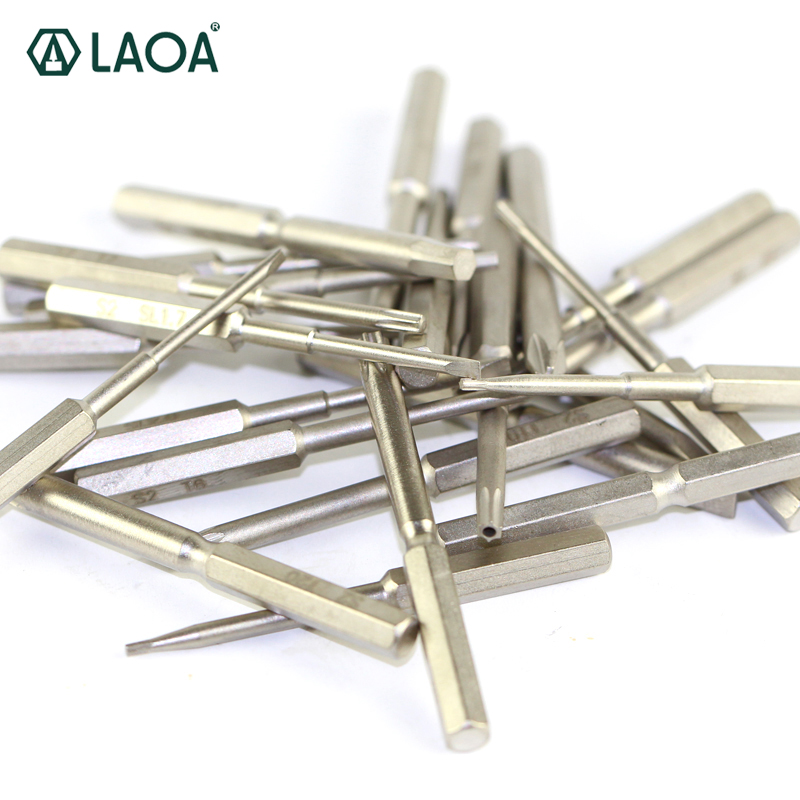 10 pcs LAOA 4mm Head S2 Alloy Steel Phillips Slotted Hex Screwdriver bit Repair for PC Cellphone Watch Pad computer