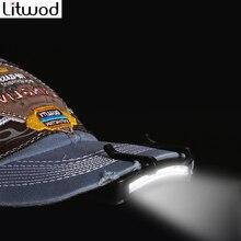 Litwod Z20 סופר בהיר 11 LED שווי אור פנס פנס ראש פנס ראש כובע כובע אור קליפ על אור דיג ראש מנורה