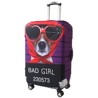 Fashion Modern Dog Design Luggage Covers 20/22/24/26/28/30' Elastic Travel Suitcase Trolley Dustproof Protector Free Shipping