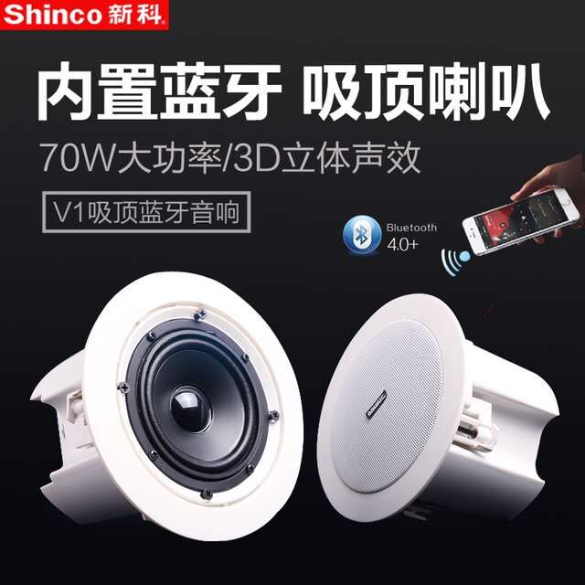 Us 93 8 Shin Co Bluetooth Active Ceiling Speakers Stereo Digital Amplifier Wireless Speaker Backaground Music Public Address Broadcast In In Ceiling