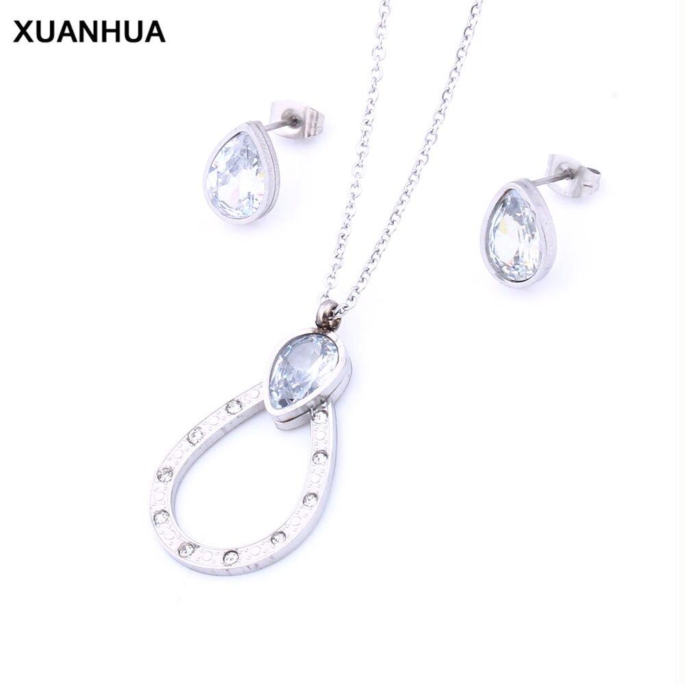 f6999e90f3ff Conjuntos de joyería de acero inoxidable XUNAHUA para mujer ...