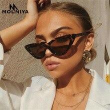 MOLNIYA cute sexy retro cat eye sunglasses women small black white 2019 triangle