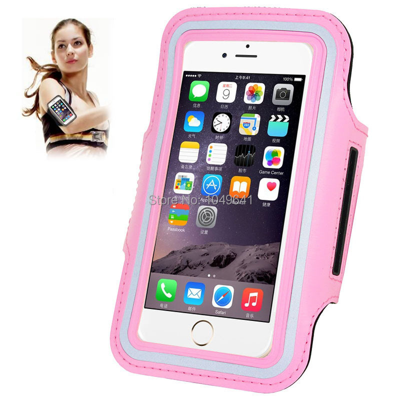 KIP6-1322F_1_Sport Armband Case with Earphone Hole & Key Pocket for iPhone 6 & 6S  HUAWEI Y3 II  ZTE Blade GF3  and Less than 4.7 inch Mobile Phone