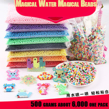 6000 DIY Water Spray Magic Aquarium Beads Manual 3D Aquabeads Puzzle Children's Educational Toys Bulk Ball GamesA53