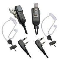 מכשיר הקשר 2pcs מיקרופון אפרכסת מכשיר הקשר Headset לקבלת Kenwood במשך Baofeng רדיו התקנים 2Pin (3)