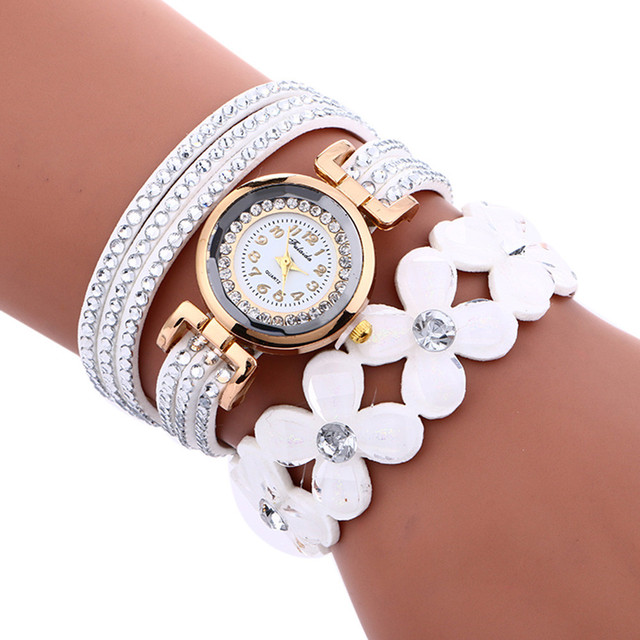2019 women watches new luxury Casual analog alloy Quartz wrist watch PU leather