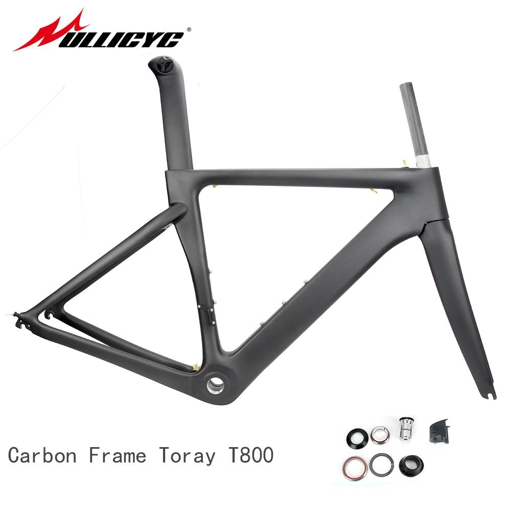 T800 Carbon Road Bike Bicycle Frame Super Light Durable 700C 510/540/560mm Di2 Mechanical BSA Matte Frame+Fork+headset  SJ560
