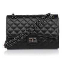 Classic diamond pattern 2.55 black chain shoulder handbag Womens cross body vintage lock bags with big small mini sizes