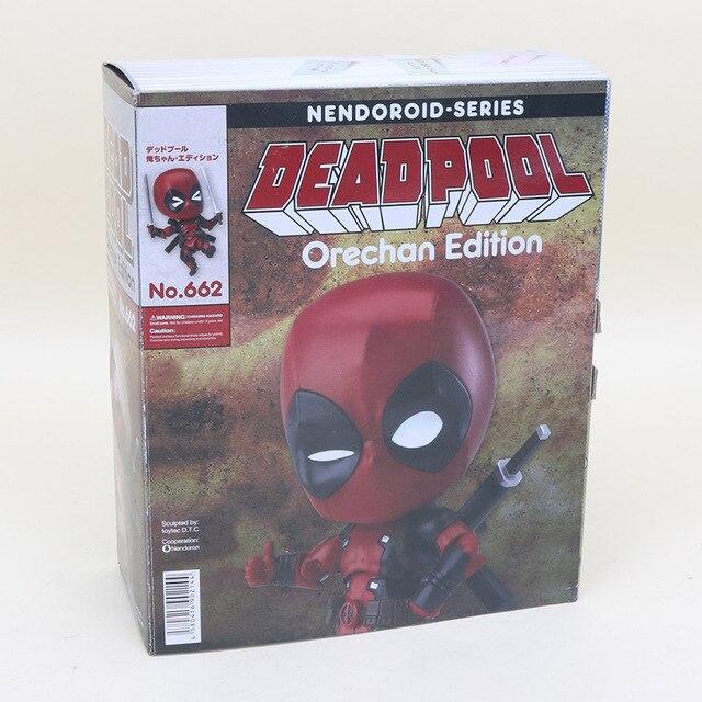 10 cm Q Edição Nendoroid Series NO. 662 Deadpool Deadpool Superhero Orechan PVC Action Figure Collectible Modelo Toy