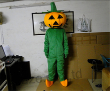 Adult Size Cartoon Mascot Costume Pumpkin