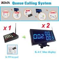 KFC система вызова официанта беспроводное оборудование управления 1 шт. K-999 передатчик с 2 шт. K-4-Cblue приемник дисплея