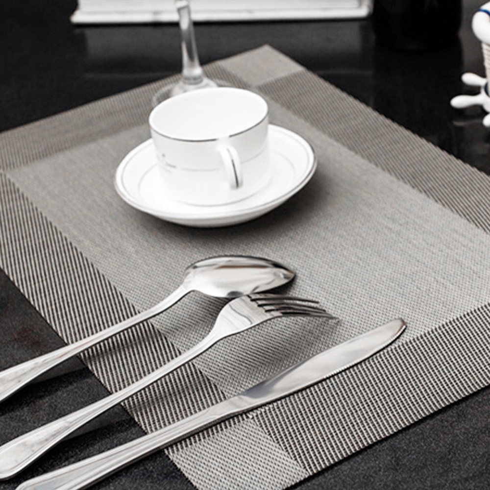 new arrival 4 pcs/lot 45X30 cm Fashion place mat PVC dining table mat Table placemats for table decoration accessories
