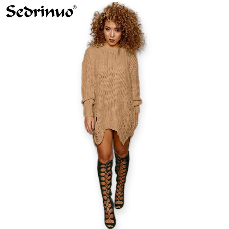 Spring Women Loose Sweater Dress Fashions