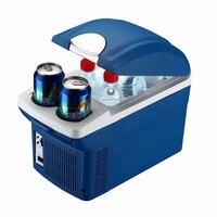Автомобильный холодильник 8L Портативный морозильник двойной Применение электрические охлаждения отопление коробка для дома путешествия