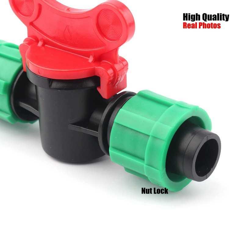 2pcs 16mm טפטוף קלטת מחברים השקיה בטפטוף מערכת 16PE השקיה צינור מים צינור מחבר שסתום גן מים מחברים
