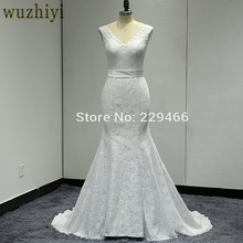 wuzhiyi Robe De Mariage Mermaid Wedding dress Custom made Bridal gowns Lace up Plus size wedding