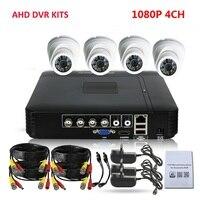 CCTV DVR Surveillance Kits HDMI AHD 1080P Kit 4 Channel DVR HVR NVR 3 In 1