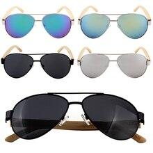 Wooden Glasses Sunglasses Bamboo Legs Sun Glasses Handmade Bamboo Eyeglasses Metal Frame Wood Glasses oculos de sol masculino стоимость