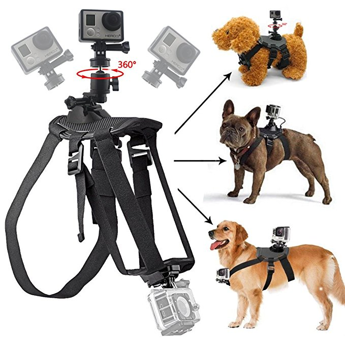 Go Pro Fetch Dog Mount Dog Harness Chest Strap Mount for Gopro Hero 5 4 session 3+ 3 SJ5000 Dog chest strap Camera Accessories gopro achmj 301 jr chesty chest harness