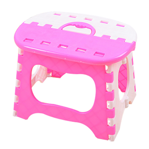 Wholesale Plastic Folding Stool 6 Type Thicken Chair Portable Home Furniture Child Convenient Dinner Stools Pink