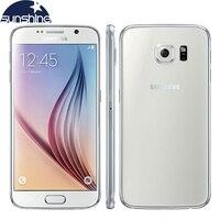 Оригинальный разблокированный мобильный телефон samsung Galaxy S6 4G LTE 3g ram 32G rom 5,1
