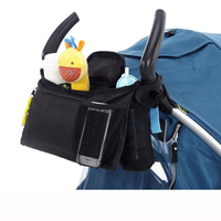 Baby Pram Carts Hanging Bags Nappy Diaper Bags For Baby Stroller Feeding Bottle Bibs Hanging Pouches