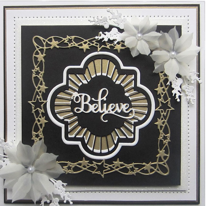 Full Star To Be Frame Metal Cutting Dies Stencils For DIY Scrapbooking Decorative Embossing Suit Paper Card Die Cutting Template in Cutting Dies from Home Garden