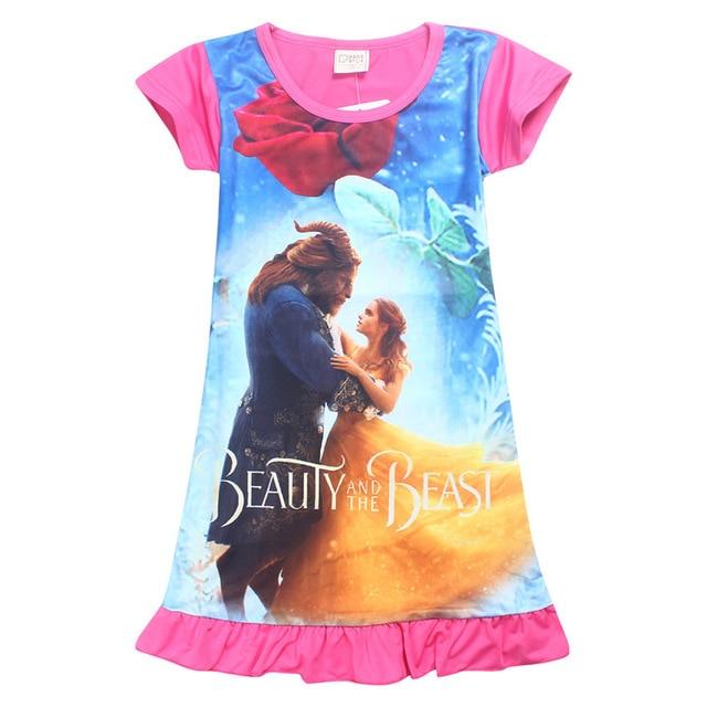 Robe Enfant платье для девочек детская одежда 2017 Брендовое Vestidos платье принцессы детская Туника мультфильм печатных Обувь для девочек Джерси Платья для женщин детей
