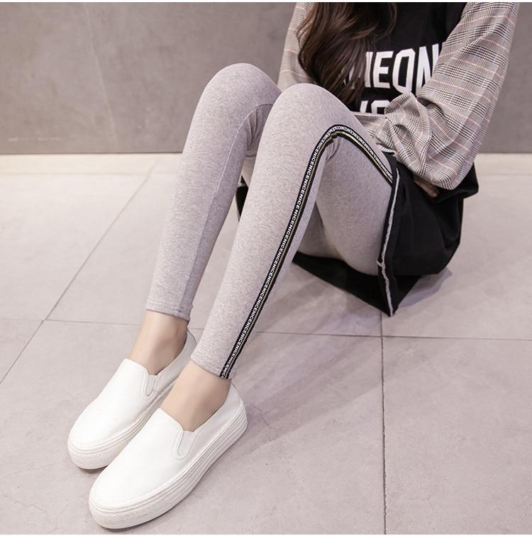 High Quality Cotton Leggings Side stripes Women Casual Legging Pant Plus Size 5XL High Waist Fitness Leggings Plump Female 43