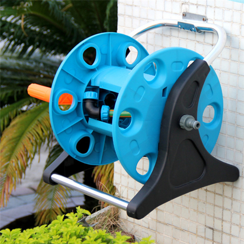 portable garden hand shaking waterpipe storage holder garden hose storage reels for family garden park farms grassland watering - Garden Hose Storage