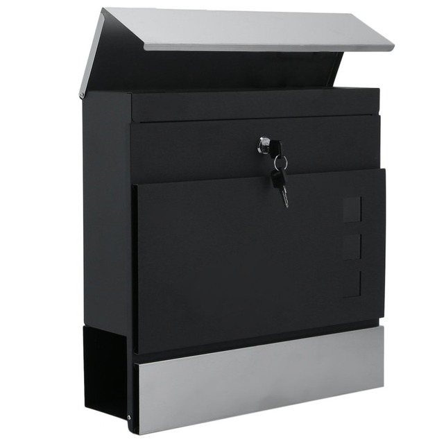 Modern Home House Mailbox Lockable Outside Wall Mounted Mail Box Newspaper Letter Mail Post Box 37x37x10.5cm Colorful