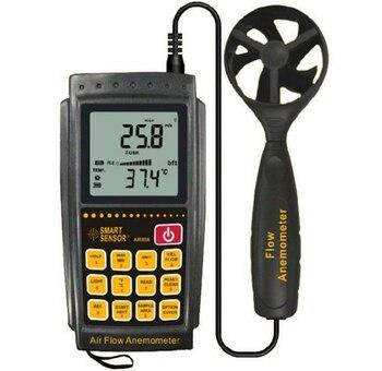 Анемометр Датчик скорости ветра диапазон измерения скорости ветра 0,3 ~ 45 м/с тестер расхода воздуха