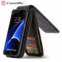 CaseMe Song Luxury Magnetic Flip Wallet Case For Samsung Galaxy S7 S7 Edge Case Leather Cover