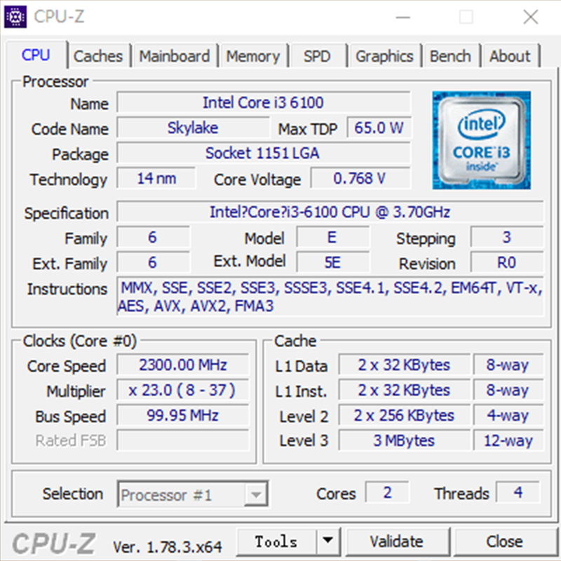 Intel core 2-i միջուկ i3-6100 i3 6100 LGA 1151 - Համակարգչային բաղադրիչներ - Լուսանկար 3