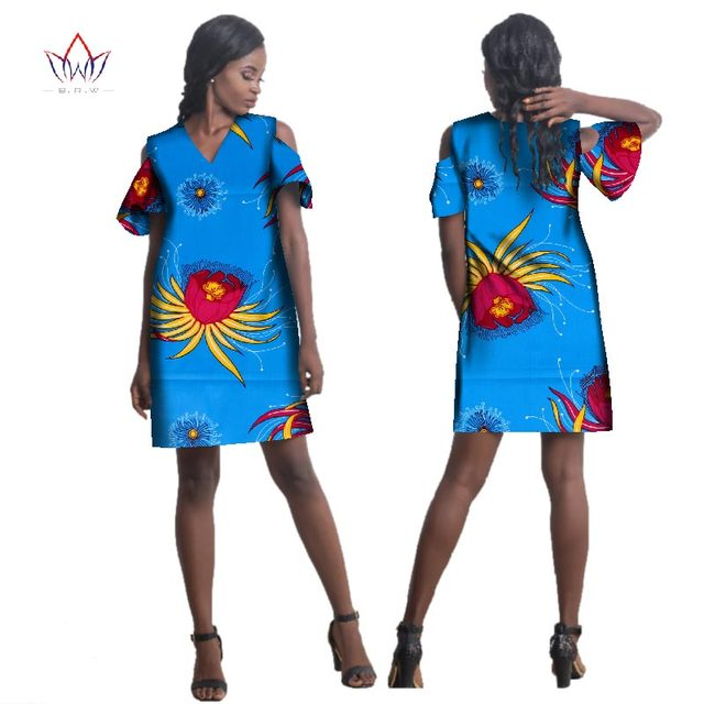 US $41.91 16% OFF|2019 New summer Plus Size dresses for sale 6XL v neck  Dashiki Women traditional african clothing loose Party Clothes WY1881-in ...